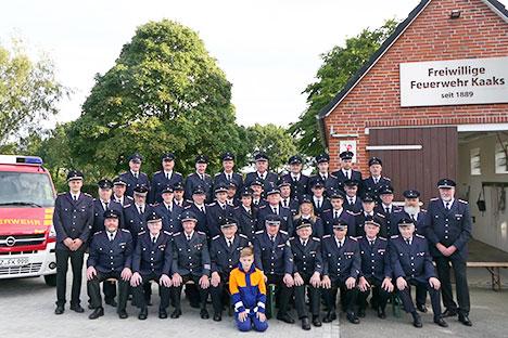 Gruppenfoto der Freiwilligen Feuerwehr Kaaks
